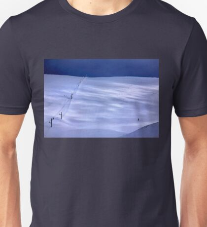 The lonely skier of Parnassus mountain Unisex T-Shirt