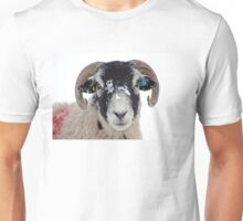 Swaledale Sheep in Winter Snow Unisex T-Shirt