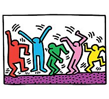 Keith Haring Dance Photographic Print