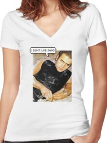 Anakin is a sandy liar Women's Fitted V-Neck T-Shirt