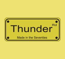 Thunder Road T-Shirt Sticker One Piece - Short Sleeve