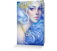 White Fairy Greeting Card
