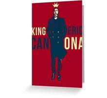 King Eric Cantona Greeting Card