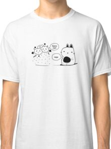 The Cat and The Clouds Print Classic T-Shirt