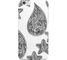 Droplets and Seastars iPhone Case/Skin