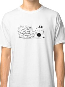 The Cat and The Kittens Text Print  Classic T-Shirt