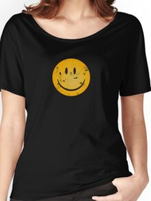 Acid Smiley Grunge Women's Relaxed Fit T-Shirt