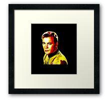Retro James T Kirk Framed Print