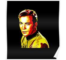 Retro James T Kirk Poster