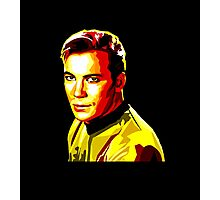 Retro James T Kirk Photographic Print