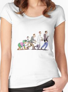 NERD EVOLUSION Women's Fitted Scoop T-Shirt