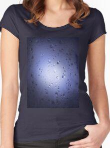 Light Through Shower Door – Blue Women's Fitted Scoop T-Shirt