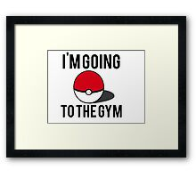 Pokemon Going to the Gym Framed Print