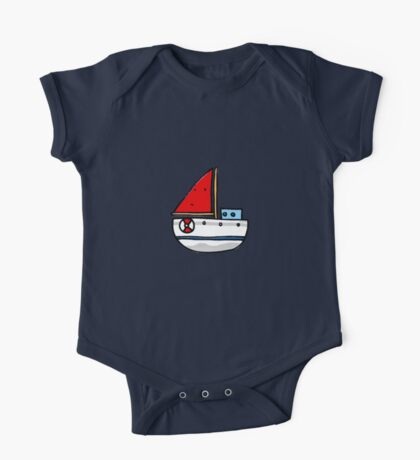 Cute sailing boat One Piece - Short Sleeve