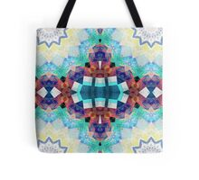Colorful Textural Abstract Tote Bag