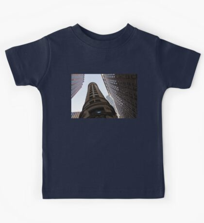 Manhattan Skyscraper Canyons - Architectural Diversity in the Financial District Kids Tee
