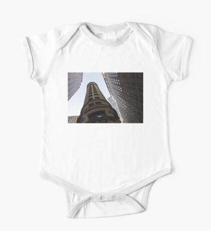 Manhattan Skyscraper Canyons - Architectural Diversity in the Financial District One Piece - Short Sleeve