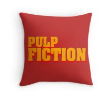 Pulp fiction title Throw Pillow