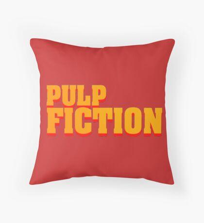 Pulp fiction title Throw Pillow