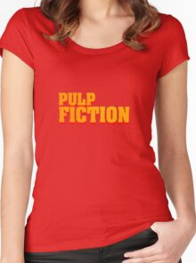 Pulp fiction title Women's Fitted Scoop T-Shirt