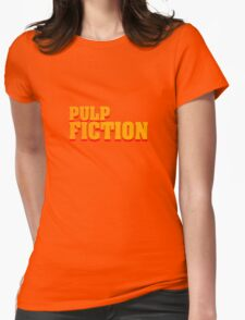Pulp fiction title Womens Fitted T-Shirt