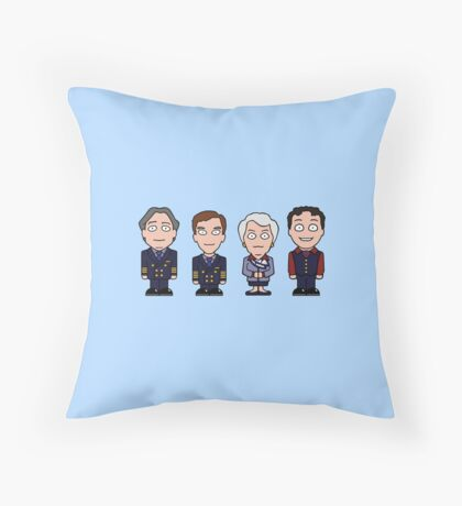 Cabin Pressure mini people (pillow or bag) Throw Pillow