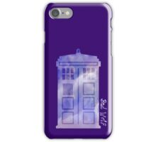 The watercolor time machine  iPhone Case/Skin