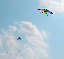 Two Kites in Sky by jojobob