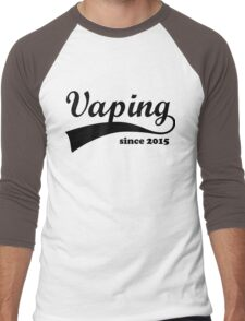 Vape Design Vaping Since 2015 Black Men's Baseball ¾ T-Shirt