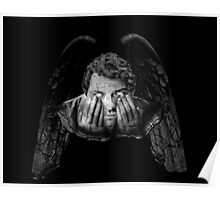 Weeping Angel Castiel Poster