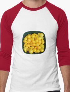 Yellow Tomatoes in Sunlight Men's Baseball ¾ T-Shirt