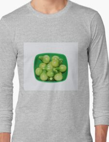 Green Tomatoes In Green Bowl Long Sleeve T-Shirt
