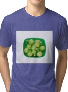 Green Tomatoes In Green Bowl Tri-blend T-Shirt