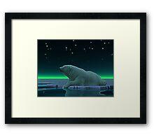Ice Edge Polar Bear Framed Print