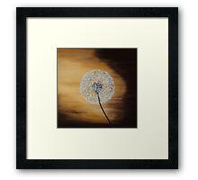 Dusky Dandelion Framed Print