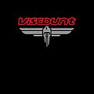 Viscount wings logo and text by Siegeworks .