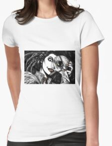 Feathers and Bone Womens Fitted T-Shirt