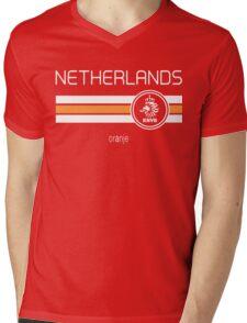 Football - Netherlands (Home Orange) Mens V-Neck T-Shirt