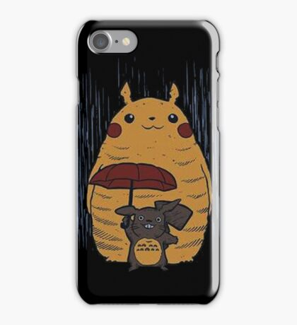Totoro and Pikachu iPhone Case/Skin