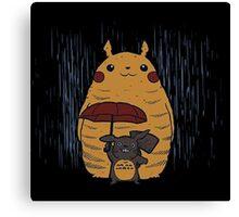 Totoro and Pikachu Canvas Print