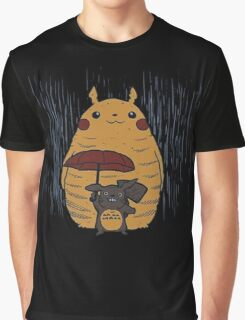 Totoro and Pikachu Graphic T-Shirt