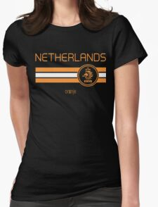 Football - Netherlands (Away White) Womens Fitted T-Shirt