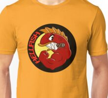 hellfish, hell, fish, grandfather, carl, lenny, yellow, animal, happy, colour, muscle. Unisex T-Shirt