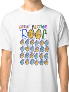 Cartoon fishes on Great Barrier Reef Australia design Classic T-Shirt