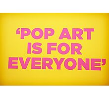 Andy warhol Quote Photographic Print