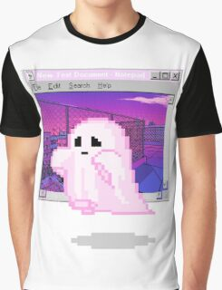 Pink Ghost Vaporwave Aesthetics Graphic T-Shirt