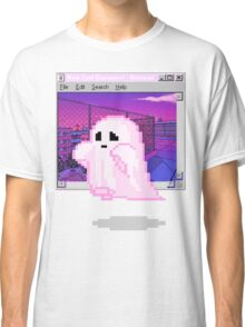 Pink Ghost Vaporwave Aesthetics Classic T-Shirt