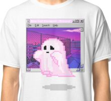 Pink Ghost Vaporwave Aesthetics Classic T-Shirt