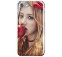 Heo Yoon Eating Apple iPhone Case/Skin