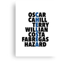 Chelsea spelt using player names Canvas Print